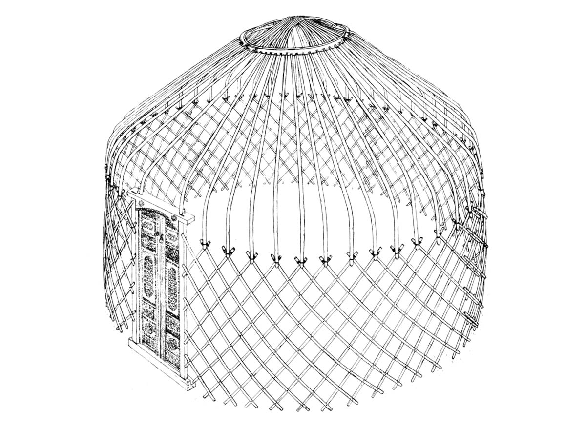 The construction of a yurt