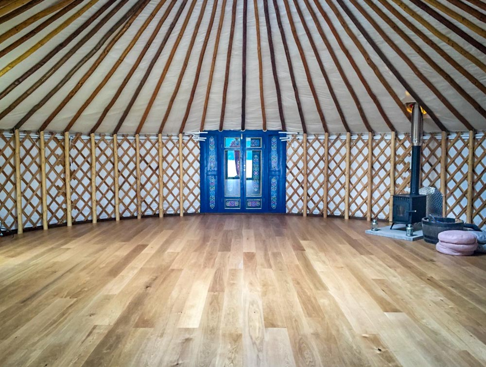 Hearthworks Yurt flooring