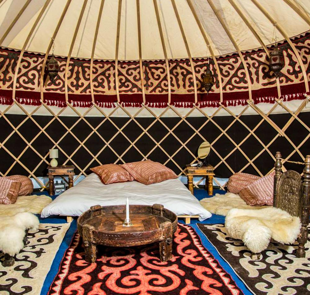 Hearthworks Yurt interior