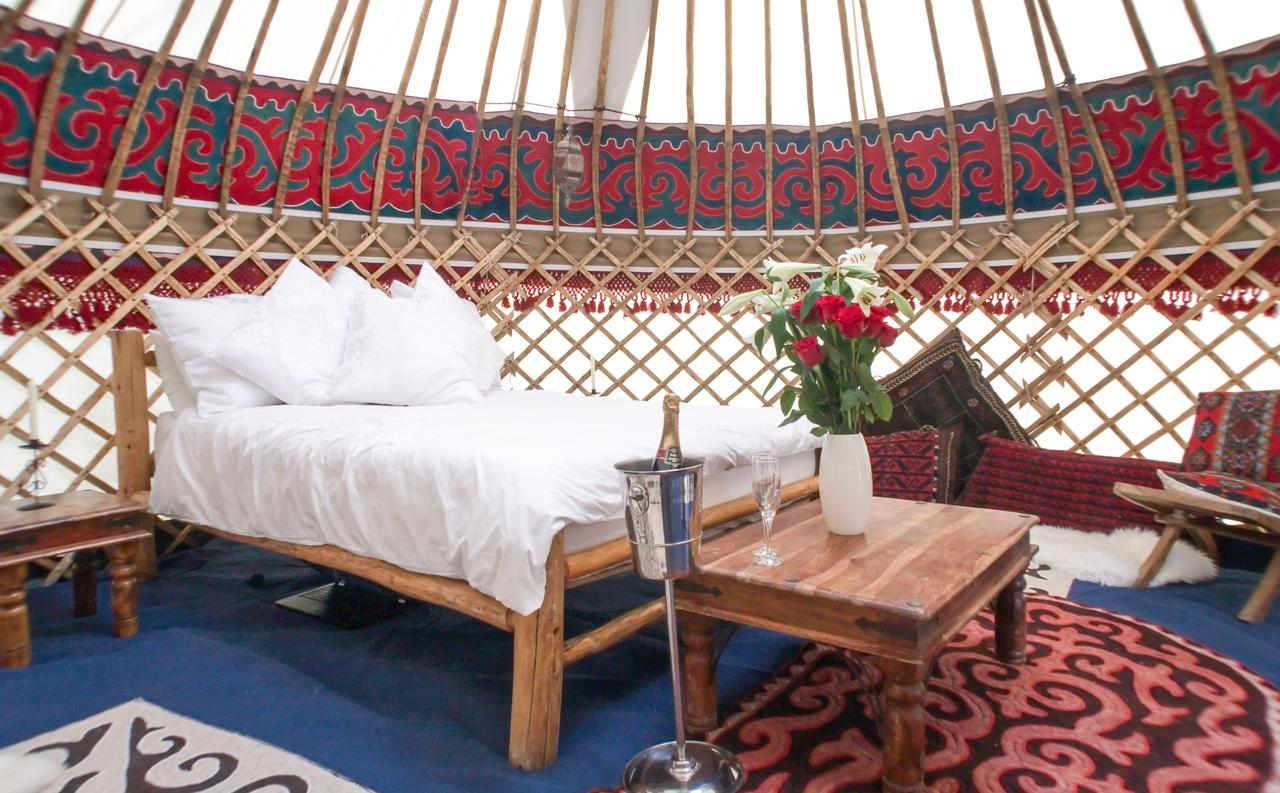 Hearthworks wedding Yurt interior